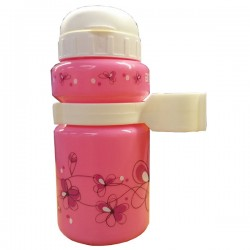 BTA Kids Plastic 330ML Pink Water Bottle