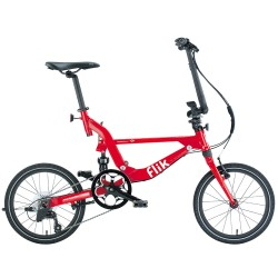 FLIK ΕΖV9 RED Folding Bicycle