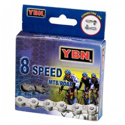 YABAN 8 Speeds 116 links Silver Chain