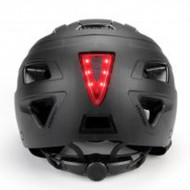 GES CITY BLACK MATTE WITH REAR RED LIGHT Helmet